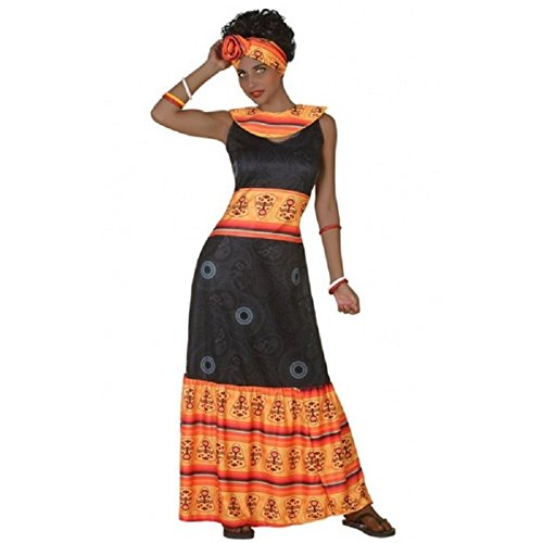 Atosa-38894 Disfraz Africana, Color Negro, M-L (38894)