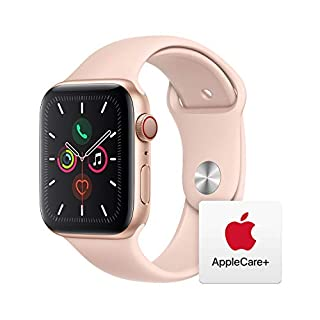 Apple Watch Series 5 (GPS + Cellular, 44mm) - Gold Aluminum Case with Pink Sport Band with AppleCare+ Bundle (B081KLHTF8) | Amazon price tracker / tracking, Amazon price history charts, Amazon price watches, Amazon price drop alerts