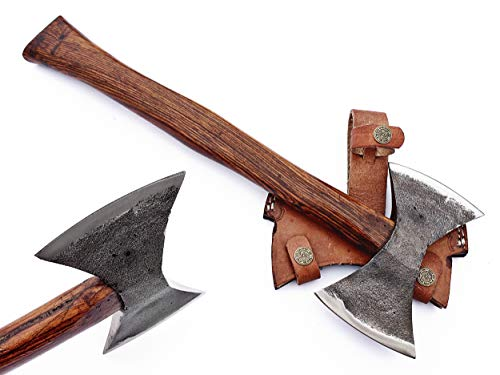 DIST-AX-266, Custom Handmade Stainless Steel Axe-Gorgeous and Solid Rose Wood Handle