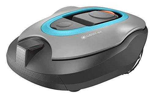 Gardena Sileno+ Mähroboter: Rasenmäher Roboter für 1300 m² Rasenfläche, Steigungen bis 35{94dd50628f55ca02a330d78e3cc19939d990d77a0c18b215f7e197250f7f2cec}, Silent Drive Motor, bei Regen einsetzbar, SensorCut- und SensorControl-System (4054-60)