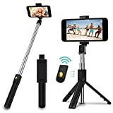 M7 Selfie Stick, 3 in 1 Extendable Selfie Stick Tripod with Detachable Bluetooth Wireless Remote...