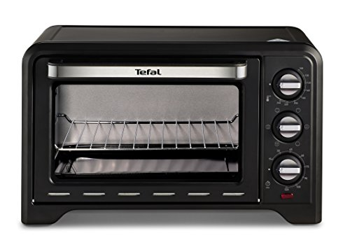 Tefal OF445840 Optimo Mini Oven, 19 L Capacity, With Rotisserie, Stainless Steel, Black