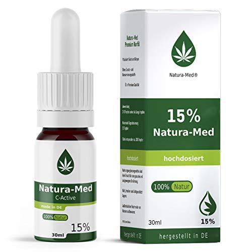 Med-Natura15% C-Active Natur Öl Tropfen 30ml |100% reines Naturprodukt•vegan•EU zertifizierter Anbau•hochdosiert und rein – made in DE - Prozent (30ml)