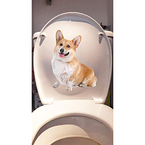 Toilettenaufkleber15,5 * 20,4 Cm Haustier Hund Corky Home Room Wandtattoos Dekoration Lustige Toilette Aufkleber