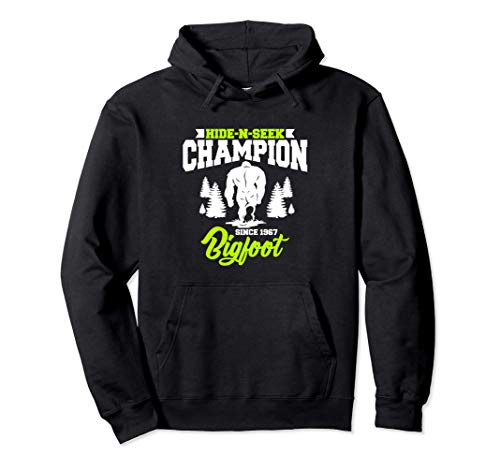 Cute & Funny Bigfoot Hide-N-Seek Champion Since 1967 Sudadera con Capucha