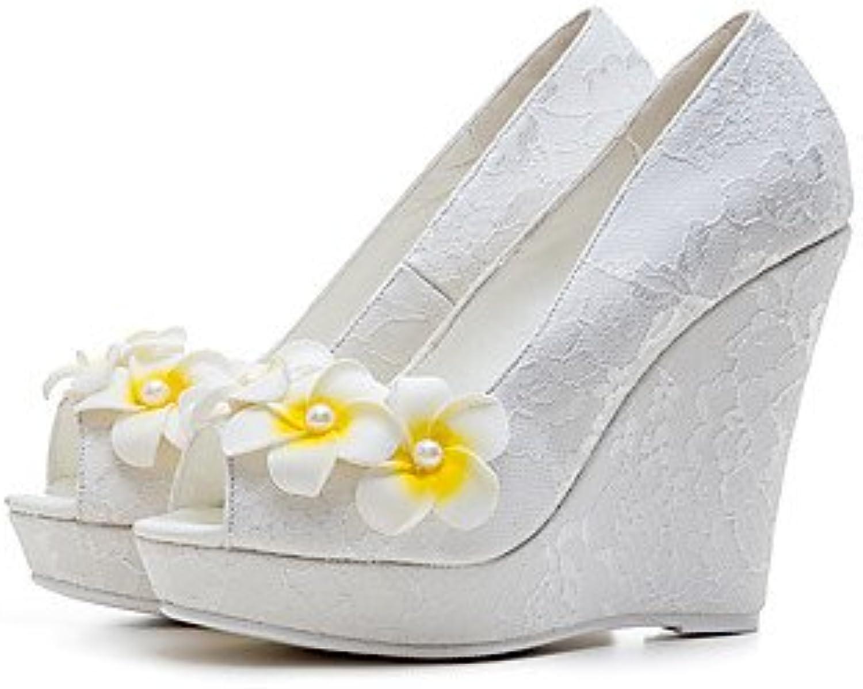 LvYuan-ggx Damen High Heels Schuhe für das Blaumenmdchen mageschneiderte Werkstoffe Frühling Sommer Herbst Winter Hochzeit Kleid Party & Festivitt