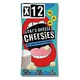 Cheesies - Snack de Queso Crujiente, Queso de Cabra - Sin Gluten, Ceto, Sin Carbohidratos, Alto en Proteínas, Vegetariano - 12 Bolsas de 20g.
