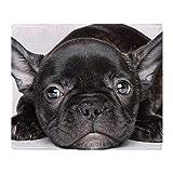YISUMEI - Manta Polar Suave, Color Negro Bulldog francés