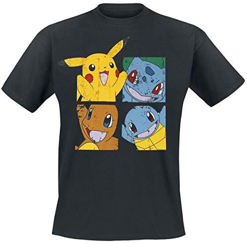 Pokemon Pikachu and Friends T-Shirt Black XXL