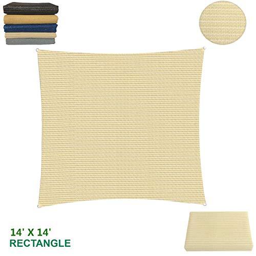 Eden's Decor - Toldo de tela con bloque UV para patio al aire libre y piscina