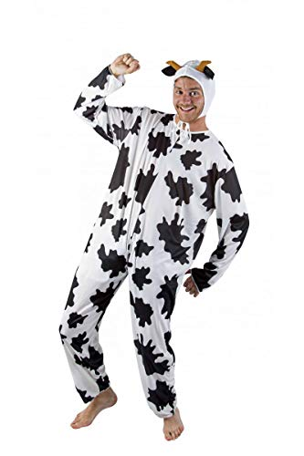 P'tit Clown 89660 Déguisement Adulte Vache - Taille Unique - Multicolore