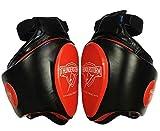 LAOLIU - Protector deportivo para el muslo para el boxeo y el entrenamiento de Muay, protección para las piernas, muslos MMA para Taekwondo, Muay Thai, boxeo, artes marciales (rojo, doble)