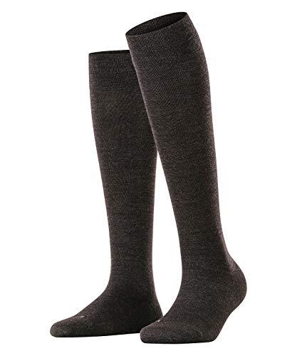 FALKE Damen Sensitive Berlin W KH Socken, Blickdicht, Grau (Anthracite Melange 3089), 35-38