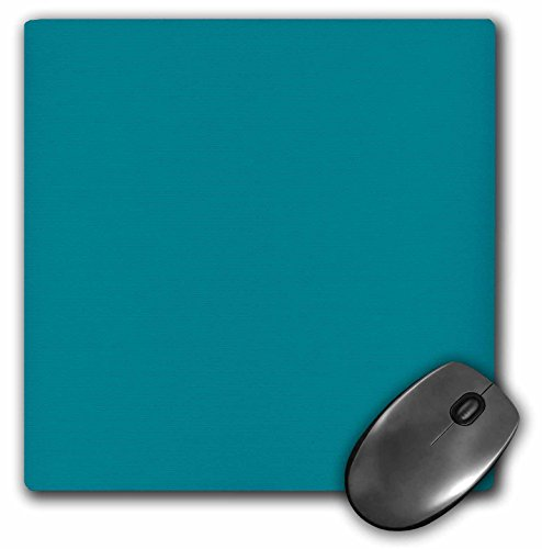 3dRose LLC 8 x 8 x 0.25 Inches Mouse Pad, Plain Teal Blue Simple Modern Contemporary Solid One Single Color Turquoise Blue Green (mp_159850_1)