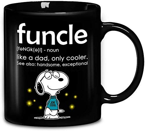 N\A Snoopy Dog Funcle Like a Dad Only Cooler vea también Guapo excepcional Taza de café de cerámica Tazas de té mugreeva mug