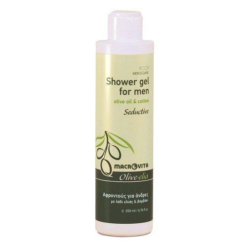 OLIVELIA Pour homme « SEDUCTIVE » - Gel de douche pour homme avec des composants bio, 200 ml.