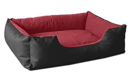 BedDog® lit pour Chien LUPI, Noir/Rouge, L env. 80x65 cm,Panier Corbeille, Coussin de Chien