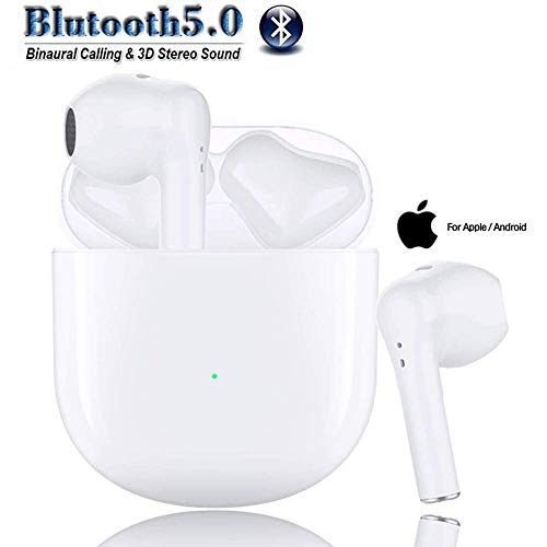 Wireless Earbuds Bluetooth Wireless Headphones with Fast Charging Case 3D Stereo in-Ear Ear Buds CVC8.0 Noise Canceling Bluetooth Headphones Built in Mic,for iPhone Apple Airpods Android Earbuds