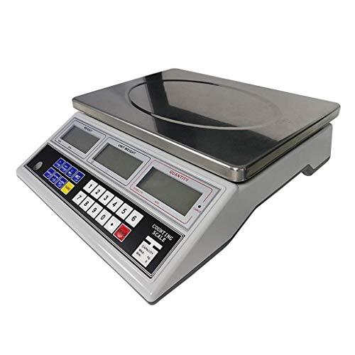 FZYE 0.1g Contador de Cocina Báscula electrónica Digital 232 comunicación en Serie Pantalla LCD Báscula de Plataforma Comercial Industrial para Frutas y Verduras Báscula de pesaje (Tama