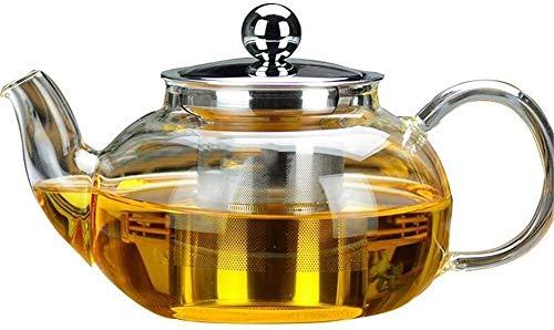 Bouilloire induction Théière en verre clair Borosilicate Verre Tea Pots de chauffage direct Infuser parfait grande capacité 800 ml pour la cuisine de bureau à domicile WHLONG