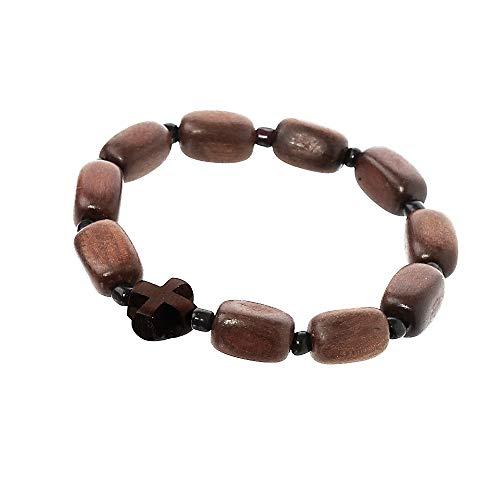 NKlaus Rosenkranz - Armband, Buchsbaum 10 Glieder Handarbeit Gebetskette 36138