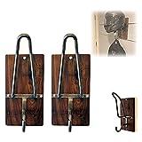 Support Mural Casque Moto,Porte-Casque Moto,Support Mural Casque Et Cintre De Veste ,Stockage Pour...