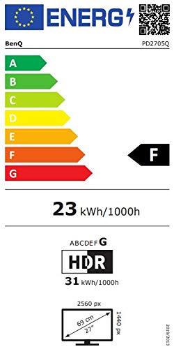 BenQ PD2705Q 68,58cm 27Zoll LCD-Display IPS Panel 2560×1440 WQHD HDMI DP in/out USB-Typ-C schwarz - 12