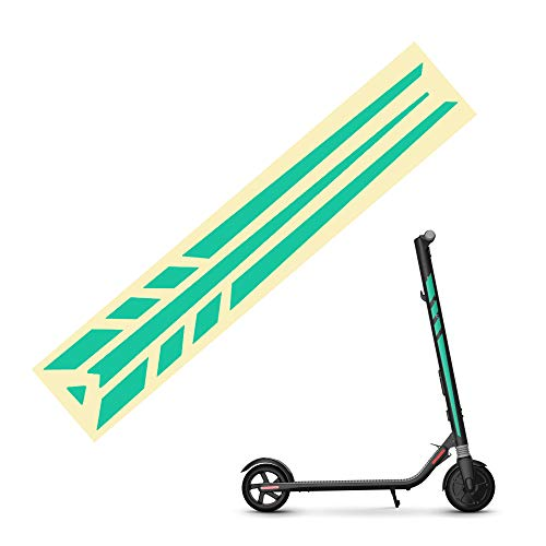 TOMALL Electric Scooter Reflective Stickers Compatible for Ninebot ES1 ES2 ES3 ES4 Green Night Reflective Film Sticker Skateboard DIY Decoration Reflective Stickers