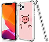 Gifun Pig Case for iPhone 11 Pro Max, Drop Protection TPU + Hard PC Offer Stronger Protective Case with Design Pig for 2019 iPhone 11 Pro Max 6.5' - Pink Cute Pig