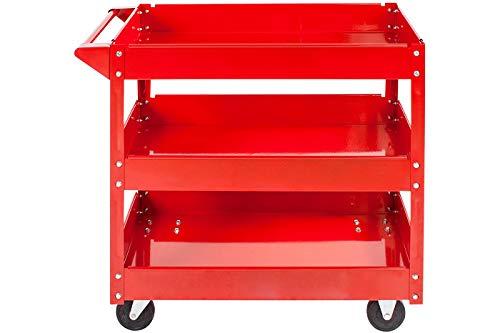 Carrello porta utensili 3 piani carrello attrezzi officina garage 4 ruote 2fisse