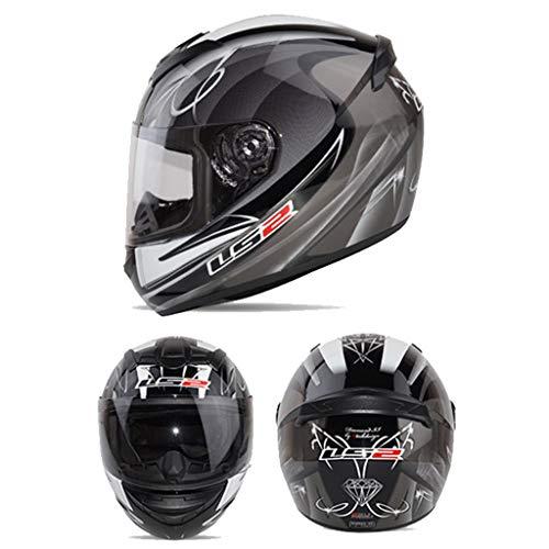 LSRRYD motorhelm, volledig gezicht, glasvezel, CE-getest voor motorcross, ATV, dirt bike, helm