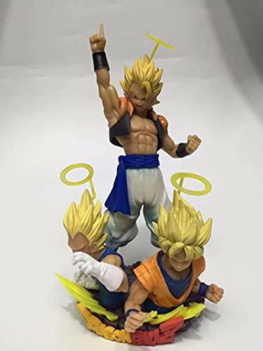 SDFH Juego De Anime De Dibujos Animados Dragon Ball Z Goku Vegeta Gokuta Busto Fit Gokuta PVC Figura De Acción Modelo En Caja Decoración 14Cm,  Regalos Y Coleccionables para Niños