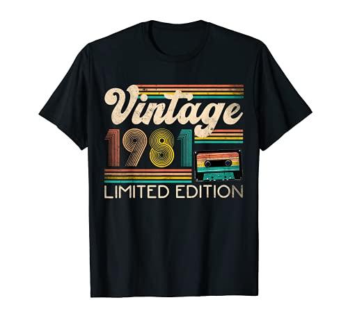 Vintage 1981 40e anniversaire cadeau 40 ans édition limitée T-Shirt