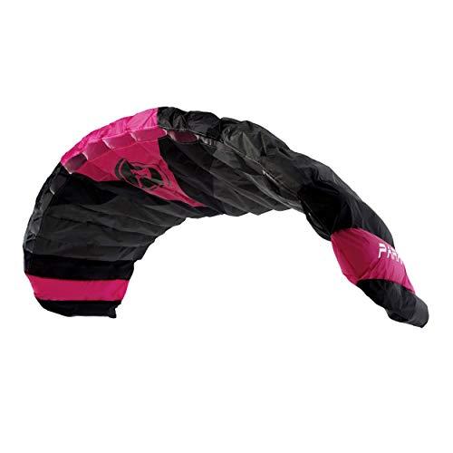 """Wolkenstürmer® Paraflex Quad 4-Leiner Lenkmatte 5.0 in pink - """"Ready to Fly"""" Kite Drachen inkl. Handles - Vierleiner Lenkdrachen - Windtrainer zum Mountainboard Fahren"""