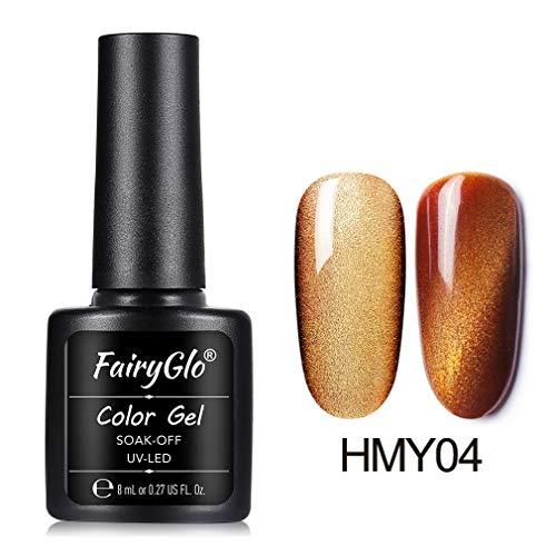 Vernis à ongles FairyGlo Gel Large Ligne 3D Oeil de Chat Magnétique UV LED Tremper Gel d'Effet Manucure 1 x 8ML FG-HMY04