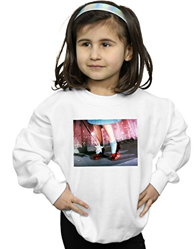 Wizard of Oz Niñas There's No Place Like Home Camisa De Entrenamiento Blanco 9-11 Years