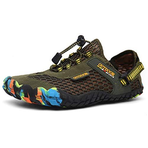snfgoij Zapatos Descalzos Zapatos Casuales de Agua para Hombre Zapatos de Yoga para Correr por senderos Zapatos para Caminar de Secado rápido Zapatos de Ciclismo,Green-36(UK3.5)