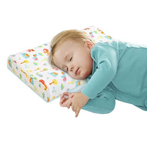 Zhao Li nekkussen voor kinderen, met afneembare wasbare organic katoen cover, natuurlijk latex baby-bedkussen voor slapen, kinder-opslagkussen voor 0-16 jaar oud geheugenkussen
