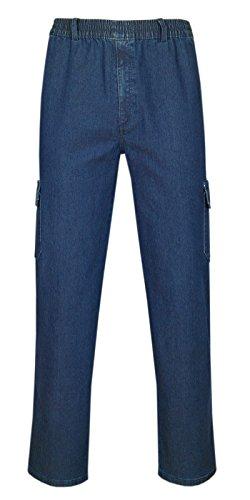 T-MODE Herren Jeans Stretch Schlupfhose Schlupfjeans Gummizughosen Sommer Kollektion-Blue-Jeans-L