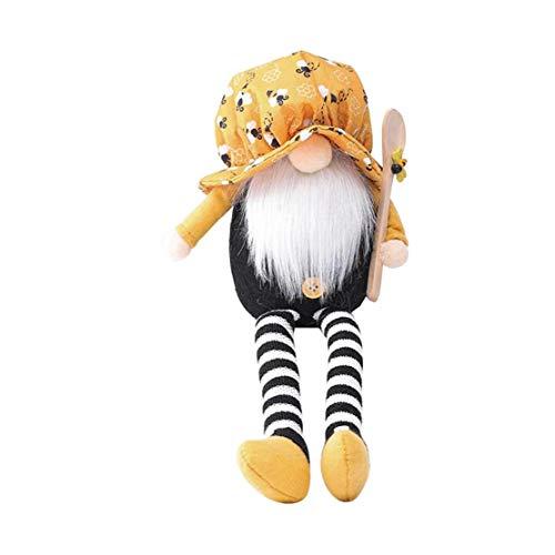 Festival ornamento de la abeja muñeco de peluche de felpa sin rostro la barba del viejo hombre abeja duende enano muñeca sin rostro Viejo creativo muñeca decoración no tóxico, inofensivo, Boy