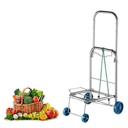 SYue Kapazität Multifunktionaler klappbarer Hand- und Transportwagen aus Aluminiumlegierung für den Innenwagen und für den Garten- oder Innenbereich