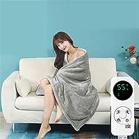 両面 ショールラップポンチョアームラップ 2/4/8タイマー 冬 加熱した電気ベッド毛布 洗濯機で洗え オールナイト使用しても安全,150*80cm