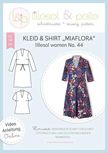 lillesol & pelle Schnittmuster lillesol Women No.44 Kleid & Shirt Miaflora in Größe 34-50 zum Nähen mit Foto-Anleitung und Video