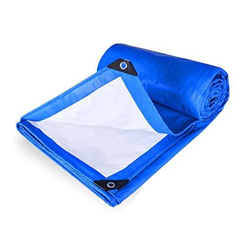 GAOAIHONG Lona Impermeable Hoja de Lona de plástico Protección Lona for los contratistas, campistas, Pintores, Agricultores, Barcos, Motocicletas Lonas (Color : Blue, Size : 5x6m)