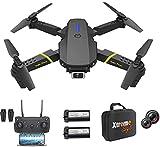 XTREME STYLE ✈️ Mini drone XS89FPV-PRO avec caméra 4K. Zoom D 50x. 2 batteries, 30 min de vol. 150m. Quadrocopter RC pliable et élégant pour les enfants et les débutants. De nombreux modes de vol.
