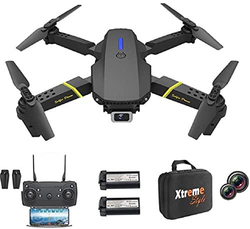 XTREME STYLE ✈️ XS89FPV-PRO Mini Drohne mit 4K Kamera. 50x D-Zoom . 2 Akkus, 30 min Flugzeit. 150m. Faltbarer, stylischer RC Quadrocopter für Kinder und Anfänger. Viele Flug-Modi. Koffer und LED