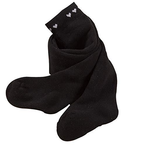 Tauzveok Medias de fondo de bebé para mantener el calor en otoño e invierno, niñas pequeñas, bucles gruesos, niñas de 0 a 1 a 3 años, grandes PP de cintura alta, negro, XL