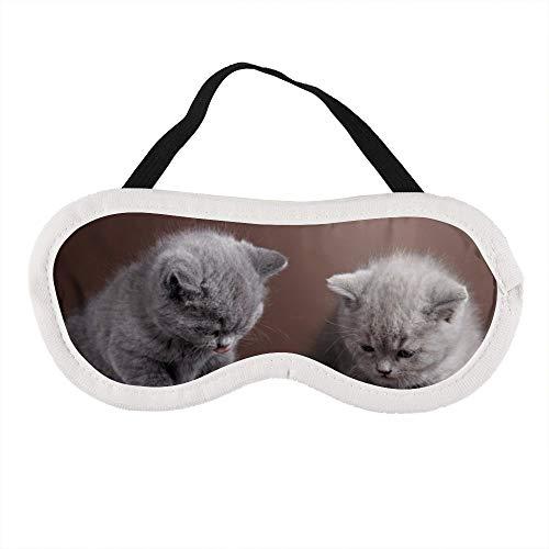 Tragbare Augenmaske für Männer und Frauen, zwei Kätzchen essen Katzenfutter, die beste Schlafmaske für Reisen, Nickerchen, gibt Ihnen die beste Schlafumgebung