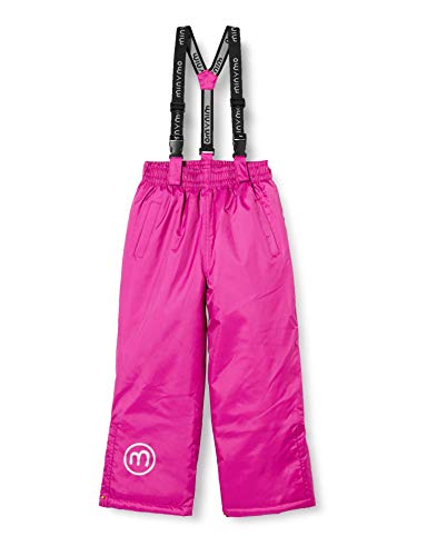MINYMO Unisex-Child Oxford solid Snow Pants, Rose Violet, 116