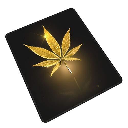 Cool Gold Golden Cannabis Weed Negro Gaming Mouse Pad Gaming Mouse Pad Personalizado Mouse Mat Mouse Pads Decorativo Para Ordenadores Portátil Teclado